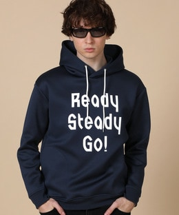 LANVIN en Bleu÷READY STEADY GO! プリントパーカ